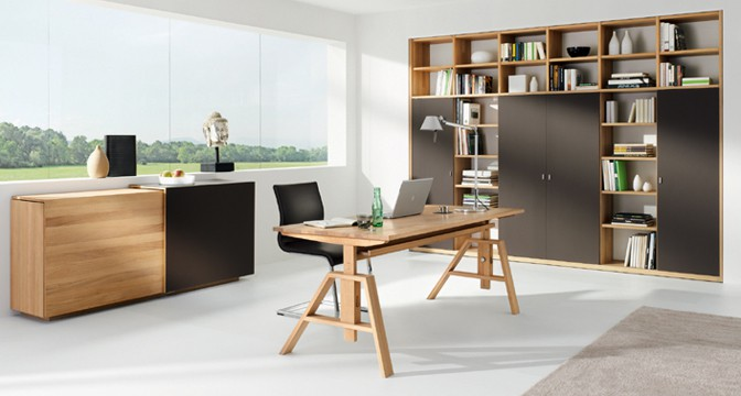 schreibtisch eiche dansk design massivholzm bel. Black Bedroom Furniture Sets. Home Design Ideas